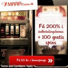 MariaCasino.dk 125 gratis spins og 3000 kr bonus - Danmark