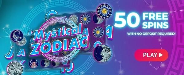 50 gratis spins on registration, no deposit needed!