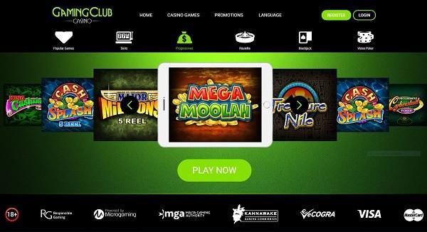 Gaming Club Casino Freispiele and Gratis Geld Bonus