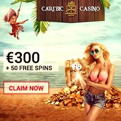 Caribic Casino 50 free spins & 500 EUR bonus (CLOSED)