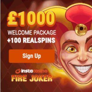 Insta Casino - 100 gratis spins and €1000 bonus - mobile & online