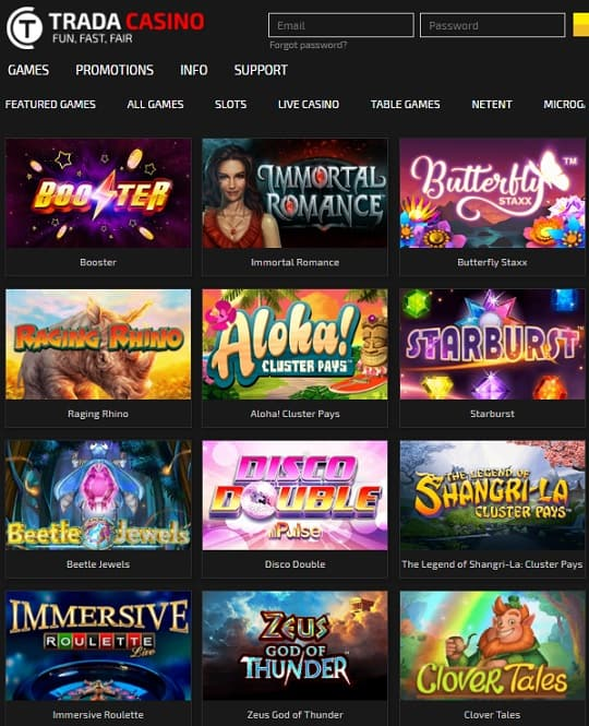 Trada Casino free bonus