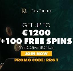 Roy Richie Casino   325% up to €1200 deposit bonus and 100 gratis spins