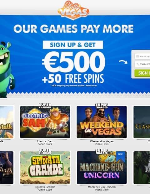 Slotty Vegas Casino free bonus money