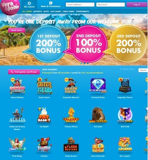 Vera&John Casino free spins bonus