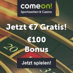 ComeOn 7€ gratis freispiele bonus ohne einzahlung
