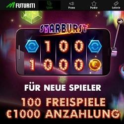 Casino FUTURITI 200 freispiele + €1,000 gratis bonus   Play for free!
