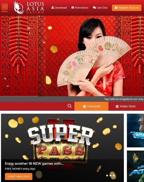 Lotus Asia Casino free bonus codes