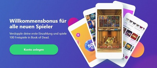 Dreamz Casino 100 free spins and 100% welcome bonus