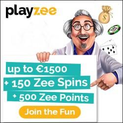 Playzee Casino 150 Freispiele + 1.500€ Gratis Willkommensbonus