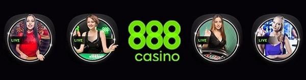 888 Casino live dealer