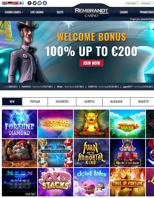 Rembrandt Casino gratis spins