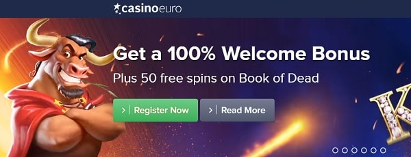 Casino Euro welcome bonus