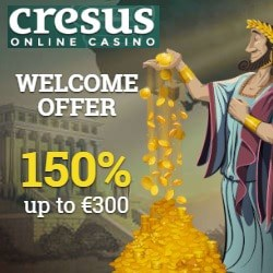 How to get 150% bonus and 300 free spins to Cresus Casino?