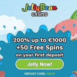 Jelly Bean Casino 50 freispiele + 200% bis zu €1000 Willkommensbonus