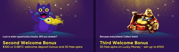 Second and Third Welcome Bonus