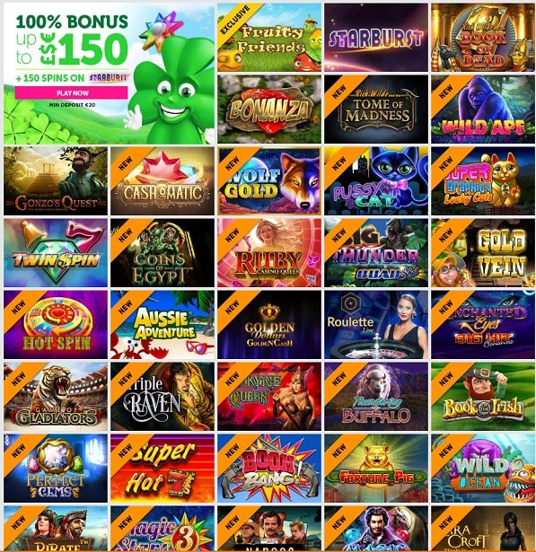 CasinoLuck free spins bonus