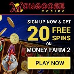 Mongoose 30 Freispiele und 100% Willkommensbonus