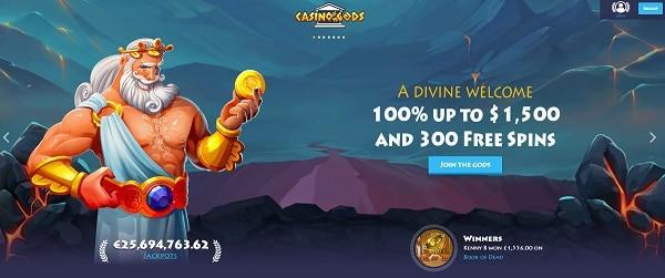 Casino Gods Wonderos Willkommensangebot