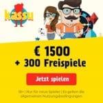 KASSU Spins 300 Freispiele und 1500€ Willkommensbonus