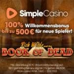 Simple Casino [Rezension] 100% up to €500 Willkommensbonus