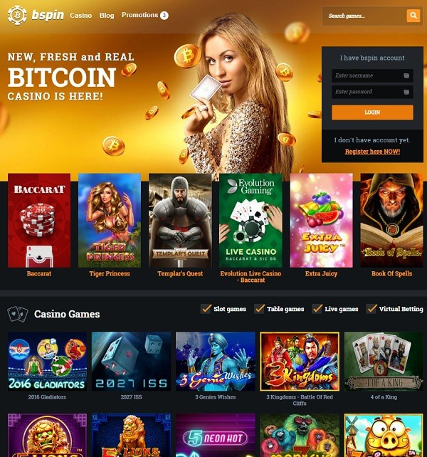 Bspin.io free spins bonus and bitcoin promotion