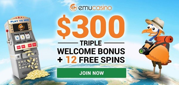 EMU 12 free spins no deposit bonus