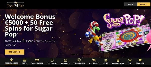 Play24Bet Casino free bonus code
