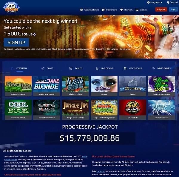 All Slots Casino free spins, gratis bonus, freispiele, no deposit bonus, free games