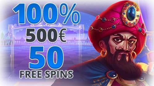 100% bonus and 50 free spins on first deposit