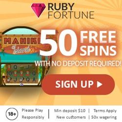 50 Freispiele Ruby Fortune