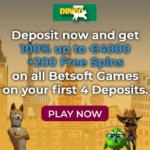 Dingo Casino 200 Freispiele und 4.000€ Willkommensbonus