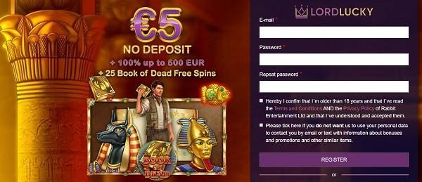 5 EUR free bonus on registration
