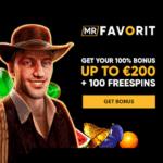 Mr Favorit Casino 100 Freispiele und 100% Willkommensbonus