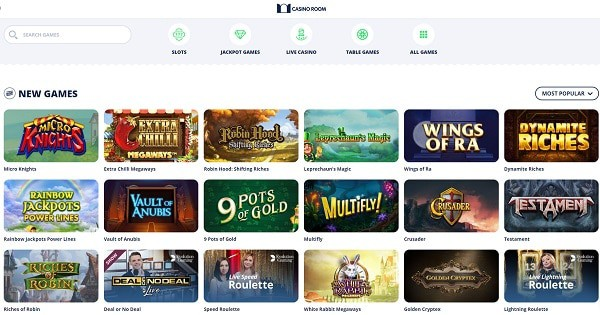 Casino Room games, bonuses, payments, support, no deposit free spins
