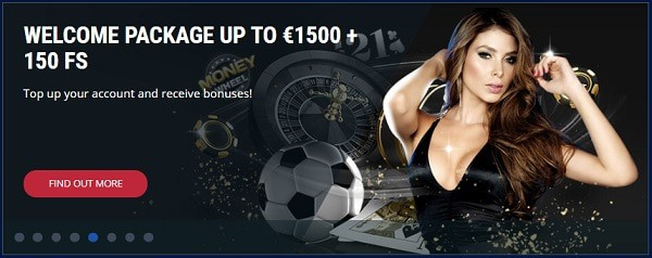 150 gratis spins and 1.500 euro in bonus money