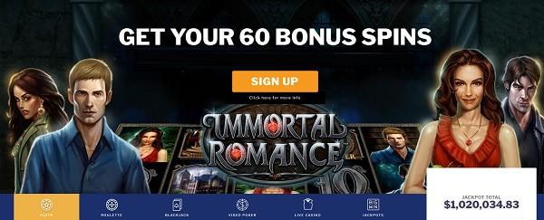 60 Gratis Spins Bonus