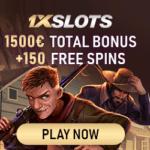 1xSlots Casino 150 Freispiele und 1500€ Willkommensbonus