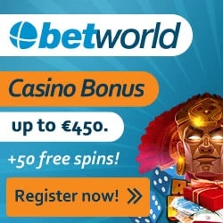 Up to 450 EUR and 50 Freespins