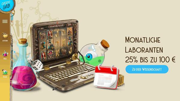 Monatliche Laboranten 25% bis zu 100 EUR