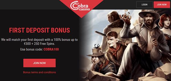 1st Deposit Bonus: 250 FS + 500 EUR
