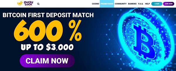 600% bonus and 150 gratis spins