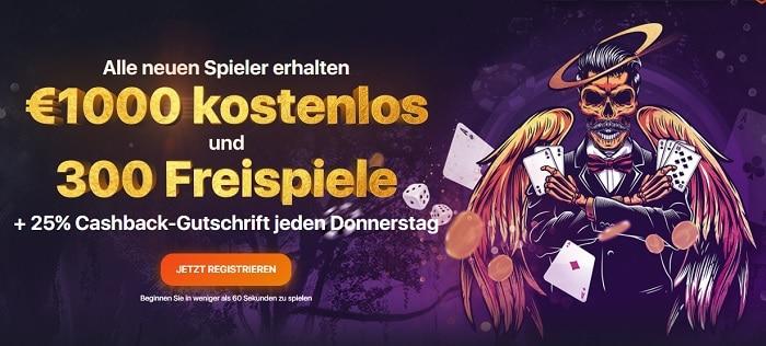 1.000 EUR and 300 gratis spinn