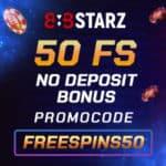 888Starz Casino - 50 Freispiele Bonus ohne Einzahlung